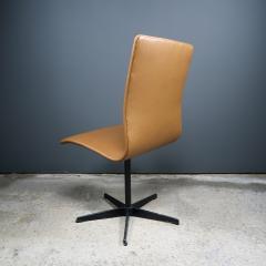 Arne Jacobsen Early Arne Jacobsen Oxford Chair in Cognac Leather Fritz Hansen c1970 - 2141776
