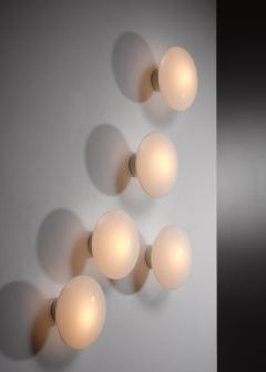 Arne Jacobsen Set of 5 Arne Jacobsen Eklipta wall lamps - 1633342