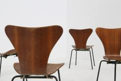Arne Jacobsen Set of six chair by Arne Jacobsen M Butterfly for the Brazilian airline 1950s - 1535124