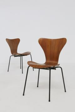 Arne Jacobsen Set of six chair by Arne Jacobsen M Butterfly for the Brazilian airline 1950s - 1535129