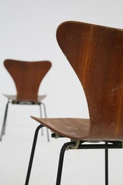 Arne Jacobsen Set of six chair by Arne Jacobsen M Butterfly for the Brazilian airline 1950s - 1535130