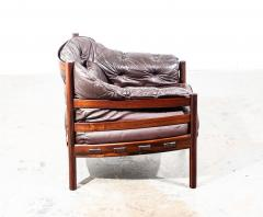 Arne Norell Arne Norell Rosewood and Leather Chair - 1651031