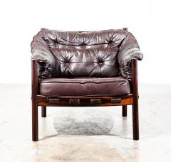 Arne Norell Arne Norell Rosewood and Leather Chair - 1651032