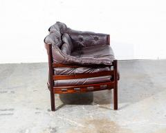 Arne Norell Arne Norell Rosewood and Leather Loveseat - 1696314