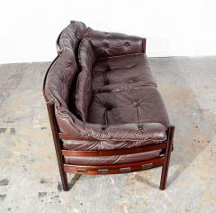 Arne Norell Arne Norell Rosewood and Leather Loveseat - 1696316