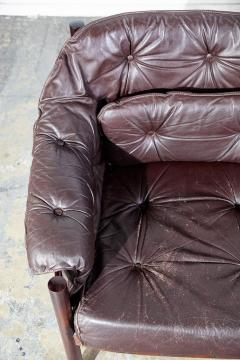 Arne Norell Arne Norell Rosewood and Leather Loveseat - 1696317