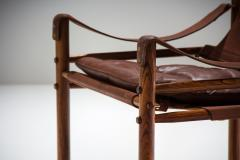 Arne Norell Arne Norell Sirocco Safari Chair in Brown Leather Sweden 1964 - 1069226