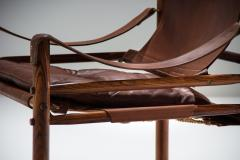 Arne Norell Arne Norell Sirocco Safari Chair in Brown Leather Sweden 1964 - 1069227