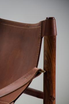 Arne Norell Arne Norell Sirocco Safari Chair in Brown Leather Sweden 1964 - 1069228