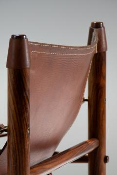 Arne Norell Arne Norell Sirocco Safari Chair in Brown Leather Sweden 1964 - 1069229