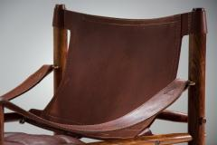 Arne Norell Arne Norell Sirocco Safari Chair in Brown Leather Sweden 1964 - 1069230