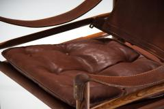 Arne Norell Arne Norell Sirocco Safari Chair in Brown Leather Sweden 1964 - 1069231