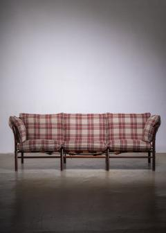 Arne Norell Arne Norell three seater sofa with pleated wool upholstery - 1904246