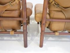 Arne Norell Pair of Arne Norell Brown Leather Inca Lounge Chairs - 1168561