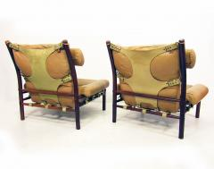 Arne Norell Two Inca Lounge Safari Chairs In Leather By Arne Norell   471215
