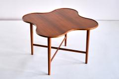Arne Vodder Arne Vodder Attributed Teak Side Table with Quatrefoil Shape Denmark 1960s - 1881990