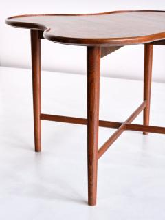 Arne Vodder Arne Vodder Attributed Teak Side Table with Quatrefoil Shape Denmark 1960s - 1881999
