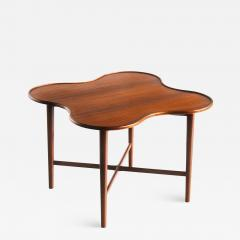 Arne Vodder Arne Vodder Attributed Teak Side Table with Quatrefoil Shape Denmark 1960s - 1883169