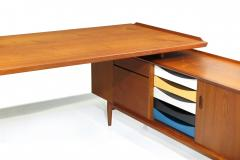 Arne Vodder Arne Vodder Desk Executive Desk with Credenza in Teak - 1658138