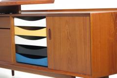 Arne Vodder Arne Vodder Desk Executive Desk with Credenza in Teak - 1658140