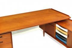 Arne Vodder Arne Vodder Desk Executive Desk with Credenza in Teak - 1658141
