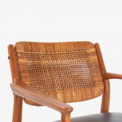 Arne Vodder Arne Vodder Model 51A Armchairs in Beech Leather for Sibast Pair - 1367026