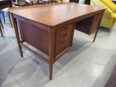 Arne Vodder Danish Modern Teak Desk with Bookcase Back Arne Vodder - 666458