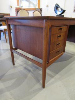 Arne Vodder Danish Modern Teak Desk with Bookcase Back Arne Vodder - 666467