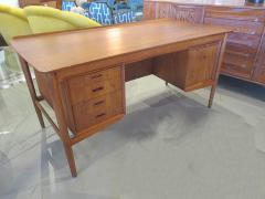 Arne Vodder Danish Modern Teak Desk with Bookcase Back Arne Vodder - 666484