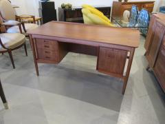Arne Vodder Danish Modern Teak Desk with Bookcase Back Arne Vodder - 666485
