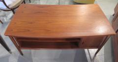 Arne Vodder Danish Modern Teak Desk with Bookcase Back Arne Vodder - 666486