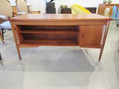 Arne Vodder Danish Modern Teak Desk with Bookcase Back Arne Vodder - 666487