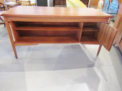 Arne Vodder Danish Modern Teak Desk with Bookcase Back Arne Vodder - 666488