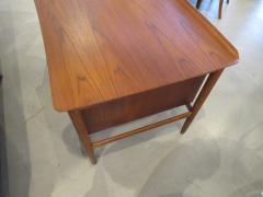 Arne Vodder Danish Modern Teak Desk with Bookcase Back Arne Vodder - 666489