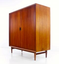 Arne Vodder Danish Modern Teak Gentlemans Chest w Tambour Doors Designed by Arne Vodder - 308958