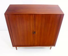 Arne Vodder Danish Modern Teak Gentlemans Chest w Tambour Doors Designed by Arne Vodder - 308959