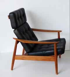 Arne Vodder Lounge Chair With Ottoman   72121
