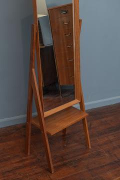 Arne Vodder Mid Century Modern Pivoting Floor Mirror - 1978799