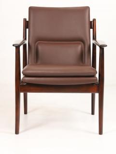 Arne Vodder Pair of Scandinavain Modern Solid Rosewood Armchairs Designed by Arne Vodder - 2005295