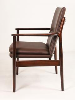 Arne Vodder Pair of Scandinavain Modern Solid Rosewood Armchairs Designed by Arne Vodder - 2005296