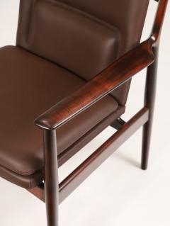 Arne Vodder Pair of Scandinavain Modern Solid Rosewood Armchairs Designed by Arne Vodder - 2005298