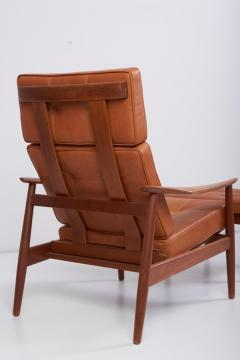 Arne Vodder Reclining Lounge Chair FD 164 with Ottoman by Arne Vodder Denmark 1960s - 1189993
