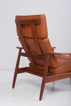 Arne Vodder Reclining Lounge Chair FD 164 with Ottoman by Arne Vodder Denmark 1960s - 1189996