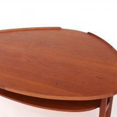 Arne Vodder Scandinavian Modern Arne Vodder Kidney Form Teak Coffee Table circa 1960s - 910577