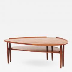 Arne Vodder Scandinavian Modern Arne Vodder Kidney Form Teak Coffee Table circa 1960s - 912729