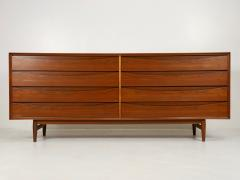 Arne Vodder Scandinavian Modern Eight Drawer Teak Dresser Designed by Arne Vodder - 2012655