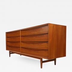 Arne Vodder Scandinavian Modern Eight Drawer Teak Dresser Designed by Arne Vodder - 2012849