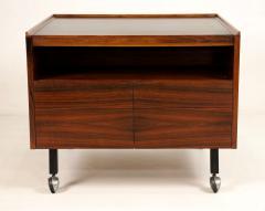 Arne Vodder Scandinavian Rosewood Bar Cart Cabinet Designed by Arne Vodder - 2026263