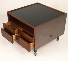 Arne Vodder Scandinavian Rosewood Bar Cart Cabinet Designed by Arne Vodder - 2026266