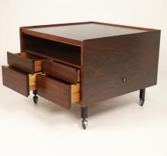 Arne Vodder Scandinavian Rosewood Bar Cart Cabinet Designed by Arne Vodder - 2026271